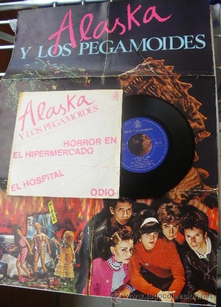 Discos de vinilo: ALASKA Y LOS PEGAMOIDES - HORROR EN EL HIPERMERCADO - SPANISH PUNK EP 1980 - CON POSTER - Foto 2 - 27546545
