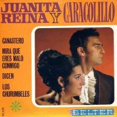 Discos de vinilo: JUANITA REINA Y CARACOLILLO - CANASTERO - 1968. Lote 26309132