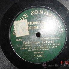 Discos de vinilo: 1366 BOHEMIOS ZARZUELA SR. MOLINA - MAS EN MI TIENDA C&C. Lote 26490241
