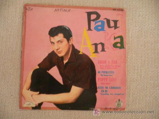 PAUL ANKA EP SPAIN HISPAVOX 1960 (Música - Discos de Vinilo - EPs - Pop - Rock Extranjero de los 50 y 60)