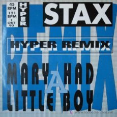 Discos de vinilo: STAX - MARY HAD A LITTLE BOY (SINGLE 12. Lote 15553164