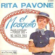 Discos de vinilo: RITA PAVONE SINGLE SELLO RCA VICTOR AÑO 1966. Lote 15343084