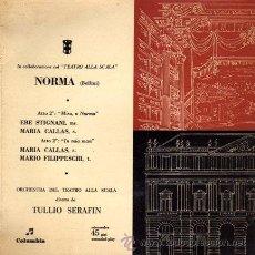 Discos de vinilo: MARIA CALLAS / EBE STIGNANI / MARIO FILIPPESCHI ··· NORMA - (SINGLE 45 RPM). Lote 21543647