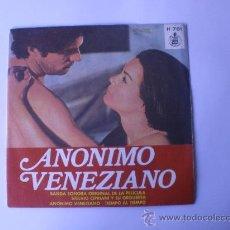 Discos de vinilo: SINGLE ANONIMO VENEZIANO BSO TIEMPO AL TIEMPO ESPAÑOL 1971. Lote 18374514