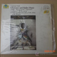 Discos de vinilo: GIUSEPPE VERDI, COROS Y BALLET. Lote 15478653