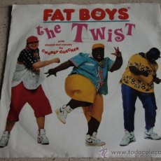 Discos de vinilo: FAT BOYS LEAD VOCAL: CHUBBY CHECKER ( THE TWIST YO,TWIST! & BUFFAPELLA ) 1988 SINGLE45. Lote 15485560