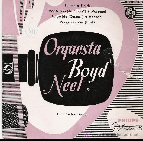 ORQUESTA BOYD NEEL (Música - Discos - Singles Vinilo - Orquestas)