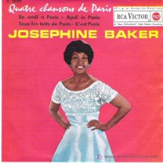 Discos de vinilo: JOSEPHINE BAKER - APRIL IN PARIS ** RCA VICTOR EP ESPAÑA 1962 ** DIFICIL. Lote 16571125