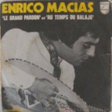 Discos de vinilo: ENRICO MACIAS - LE GRAND PARDON (EDICIÓN FRANCESA). Lote 26624628