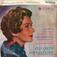 Discos de vinilo: ELISABETH SCHWARZKOPF - EDICIÓN INGLESA DE 1959. Lote 26971623