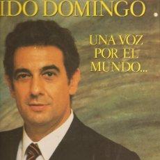 Discos de vinilo: 3 LP´S DE PLACIDO DOMINGO, UNO DE ELLOS DOBLE - MAS DE 40 CANCIONES. Lote 21150158