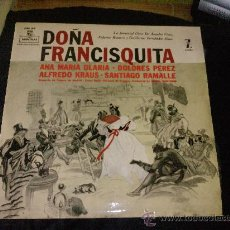 Discos de vinilo: LP VINILO DOÑA FRANCISQUITA. Lote 26448077