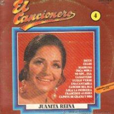 Disques de vinyle: EL CANCIONERO Nº 4 JUANITA REINA D-FLA-912. Lote 15611013