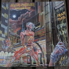 Discos de vinilo: IRON MAIDEN ( SOMEWHERE IN TIME ) USA - 1986 LP33 CAPITOL RECORDS. Lote 237010815