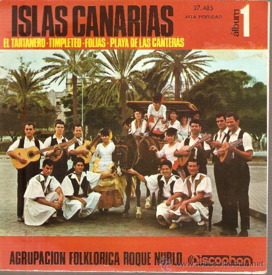 EP CANARIAS FOLK - AGRUPACION FOLKLORICA ROQUE NUBLO : EL TARTANERO + 3 (Música - Discos de Vinilo - EPs - Étnicas y Músicas del Mundo)