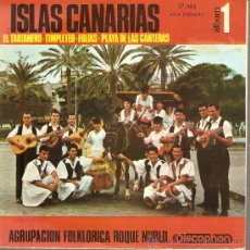 Discos de vinilo: EP CANARIAS FOLK - AGRUPACION FOLKLORICA ROQUE NUBLO : EL TARTANERO + 3 . Lote 25149043