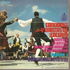 Discos de vinilo: EP EXTREMADURA FOLK - GRUPO MIXTO DE COROS Y DANZAS - CANCIONES Y DANZAS DE CACERES . Lote 25191845
