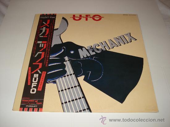 UFO / MECHANIX - LP AUDIÓFILOS JAPÓN CON OBI, ENCARTE/ LETRAS Y POSTER ORIGINALES!! PERFECTO!!! (Música - Discos - LP Vinilo - Heavy - Metal)