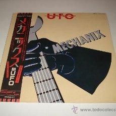 Discos de vinilo: UFO / MECHANIX - LP AUDIÓFILOS JAPÓN CON OBI, ENCARTE/ LETRAS Y POSTER ORIGINALES!! PERFECTO!!!. Lote 25018216