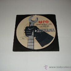 Discos de vinilo: UFO / THE WRITER - BACK INTO MY LIFE - MECHANIX - SINGLE 7 PICTURE DISC - MADE IN UK 1982!!!. Lote 25018214