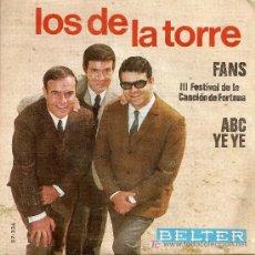 Discos de vinilo: LOS DE LA TORRE-III FESTIVAL DE LA CANCION DE LA FORTUNA (1966). Lote 18178418