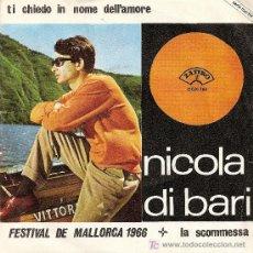 Discos de vinilo: NICOLA DI BARI-FESTIVAL DE MALLORCA 1966. Lote 19688943