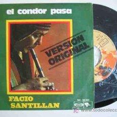 Discos de vinilo - FACIO SANTILLAN : El condor pasa; Pájaro Campana. 1970. Riviera - Movieplay SN 20361 - 15724431