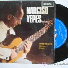 Discos de vinilo: NARCISO YEPES : JUEGOS PROHIBIDOS; FARRUCA; BALADA. 1965. DECCA SDGE 80909. Lote 15810990
