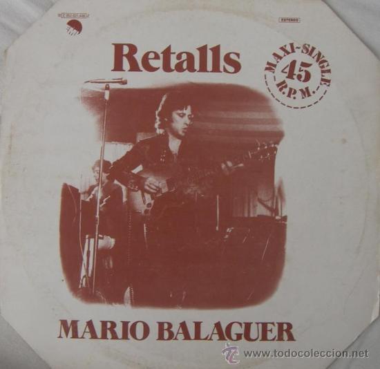 MARIO BALAGUER - (SANTABARBARA) - RETALLS - 1977 (Música - Discos de Vinilo - Maxi Singles - Solistas Españoles de los 70 a la actualidad)