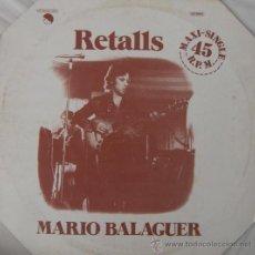 Discos de vinilo: MARIO BALAGUER - (SANTABARBARA) - RETALLS - 1977. Lote 25725130