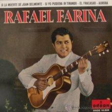 Discos de vinilo: RAFAEL FARINA - EP, 1962. Lote 25401716