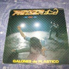 Discos de vinilo: PANZER - GALONES DE PLASTICO + SUBE UN ESCALON- CHAPA DISCOS 1983 - HEAVY METAL. Lote 27090046