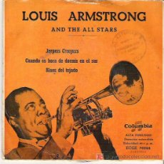 Discos de vinilo: LOUIS ARMTRONG AND THE ALL STARS - JEEPERS CREEPERS ** EP COLUMBIA ESPAÑA 1958 . Lote 15780659