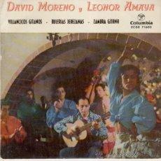 Discos de vinilo: DAVID MORENO & LEONOR AMAYA -- VILLANCICOS GITANOS - EP. Lote 88116786