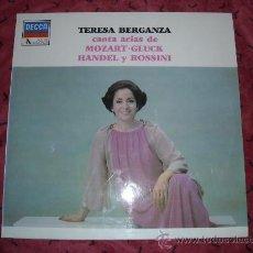 Discos de vinilo: TERESA BERGANZA CANTA ARIAS DE MOZART..GLUCK..HANDEL.ROSSINI LP DECCA VER FOTO. Lote 15838963