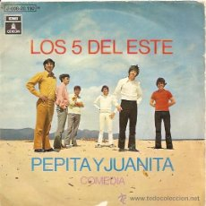 Discos de vinilo: LOS 5 DEL ESTE SINGLE SELLO EMI-ODEON AÑO 1970. Lote 15843529