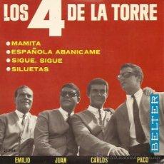 Discos de vinilo: LOS 4 DE LA TORRE EP SELLO BELTER AÑO 1965. Lote 15843553
