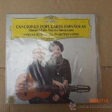 Discos de vinilo: MANUEL DE FALLA-FEDERICO GARCIA LORCA, CANCIONES POPULARES ESPAÑOLAS. Lote 15853770