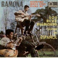 Discos de vinilo: LOS BLUE DIAMONDS - CANTAN EN ESPAÑOL - RAMONA - EP. Lote 25300016
