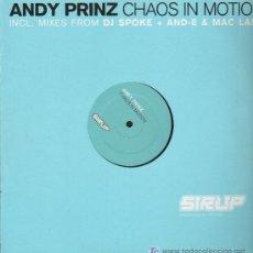 Discos de vinilo: ANDY PRINZ - CHAOS IN MOTION - MAXISINGLE 2002. Lote 15873341
