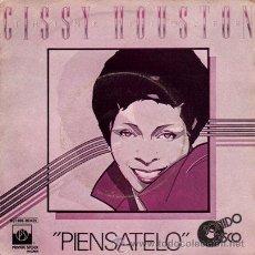Discos de vinilo: CISSY HOUSTON ··· THINK IT OVER / AN UMBRELLA SONG - (SINGLE 45 RPM). Lote 22387503