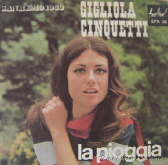 GIGLIOLA CINQUETTI - FESTIVAL DE SAN REMO 1969 (Música - Discos - Singles Vinilo - Otros Festivales de la Canción)