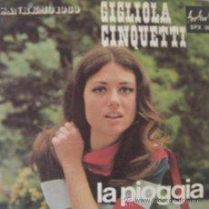 Discos de vinilo: GIGLIOLA CINQUETTI - FESTIVAL DE SAN REMO 1969. Lote 27007653