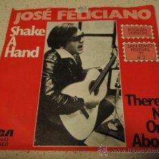 Discos de vinilo: JOSE FELICIANO 'SAN REMO FESTIVAL '71' (SHAKE A HAND - THERE'S NO ONE ABOUT) GERMANY SINGLE45 . Lote 15942579