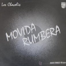Discos de vinilo: LOS CHAVOLIS - MOVIDA RUMBERA (MAXI SINGLE) - 1985. Lote 22800259