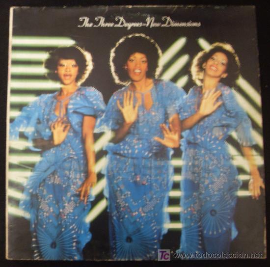 LP DE THE THREE DEGREES. NEW DIMENSIONS. (Música - Discos - LP Vinilo - Funk, Soul y Black Music)