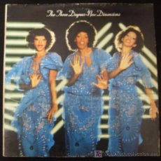 Discos de vinilo: LP DE THE THREE DEGREES. NEW DIMENSIONS.. Lote 15950019