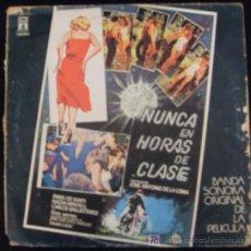 Discos de vinilo: LP DE BANDA SONORA ORIGINAL DE LA PELICULA NUNCA EN HORAS DE CLASE. . Lote 15974403