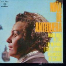 Discos de vinilo: NIÑA DE ANTEQUERA - MARÍA ROSA DE LEON / AY MI PERRO / LLEGO EL FLORERO - VILLANCICOS - EP 1958. Lote 16049808