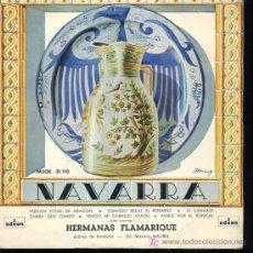 Discos de vinilo: HERMANAS FLAMARIQUE - VUELAN JOTAS DE ARAGON / CUANDO REZAS EL ROSARIO / EL CANARIO - EP. Lote 16077489
